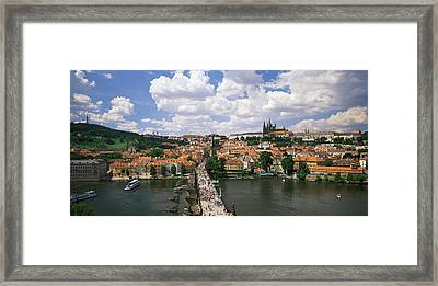 Charles Bridge Prague Czech Republic Framed Print by Panoramic Images