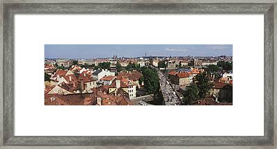 Charles Bridge Prague Czechoslovakia Framed Print by Panoramic Images