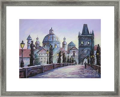 Charles Bridge  Prague Framed Print by John Clark