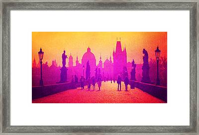 Charles Bridge Prague Framed Print by MB Dallocchio