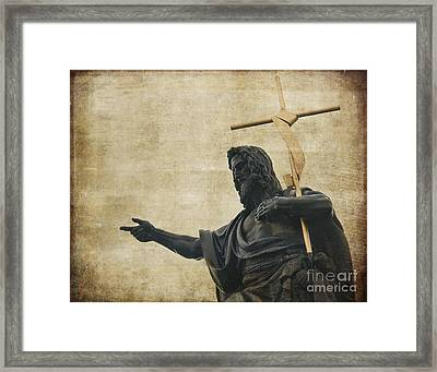 Charles Bridge Statue Framed Print by Ivy Ho