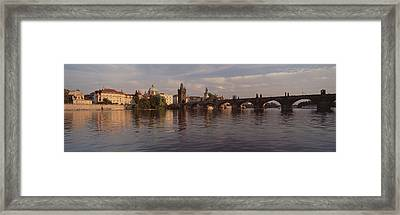 Charles Bridge Vltava River Prague Framed Print