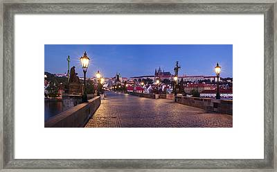 Charles Bridge With Castle District Framed Print by Panoramic Images