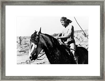 Charles Bronson In Chato's Land  Framed Print by Silver Screen