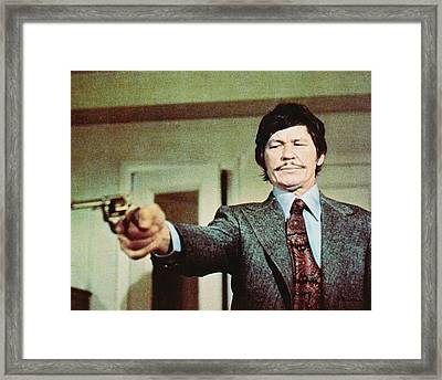 Charles Bronson In Death Wish  Framed Print by Silver Screen
