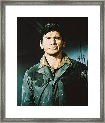 Charles Bronson In The Dirty Dozen Framed Print by Silver Screen