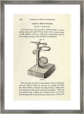Charles Darwin's Microscope Framed Print by British Library