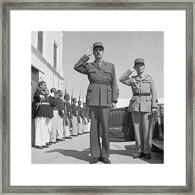 Charles De Gaulle In Carthage Tunisia 1943 Framed Print by Mountain Dreams
