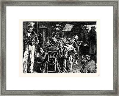 Charles Dickens American Notes 1842 In The Cabin Framed Print