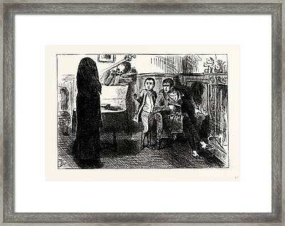 Charles Dickens Sketches By Boz The Black Veil Framed Print