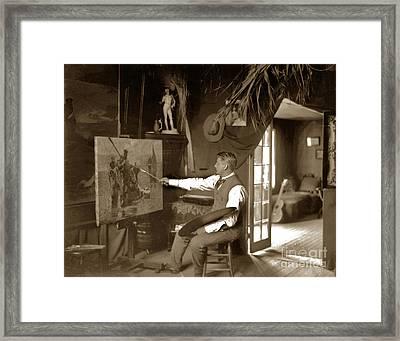 Charles Dickman Artist Monterey California Circa 1907 Framed Print by California Views Mr Pat Hathaway Archives
