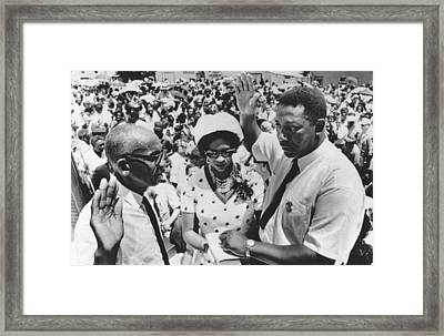 Charles Evers Becomes Mayor Framed Print by Underwood Archives