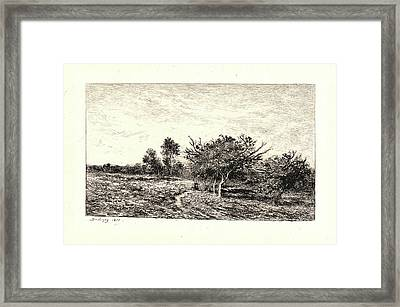 Charles François Daubigny French, 1817 - 1878. Apple Trees Framed Print by Litz Collection
