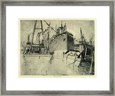 Charles Frederick William Mielatz, Chelsea Docks Framed Print