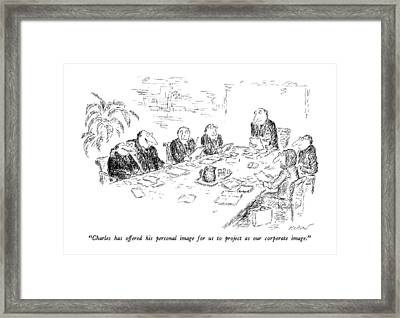 Charles Has Offered His Personal Image Framed Print
