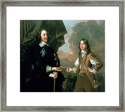 Charles I And James, Duke Of York Framed Print by Sir Peter Lely