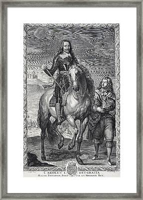 Charles I, King Of England Framed Print