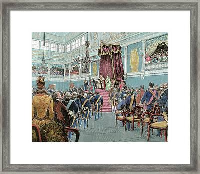 Charles I (lisbon, 1863-vila Vials, 1908 Framed Print by Prisma Archivo