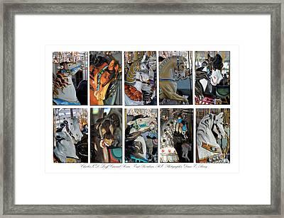 Charles Looff Carousel Ponies Framed Print