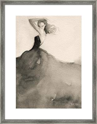 Charles James Swan Gown - Fashion Illustration Art Print Framed Print by Beverly Brown