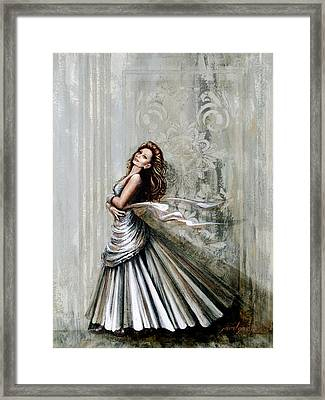 Swan Gown Framed Print