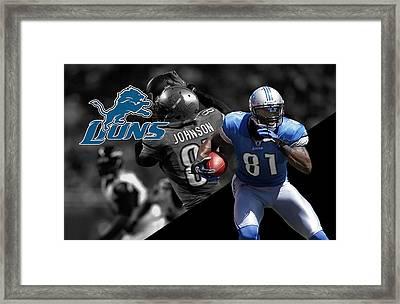 Calvin Johnson Lions Framed Print