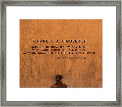 Charles Lindbergh Framed Print by Dan Sproul