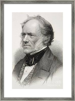 Charles Lyell, British Geologist Framed Print by Paul D. Stewart