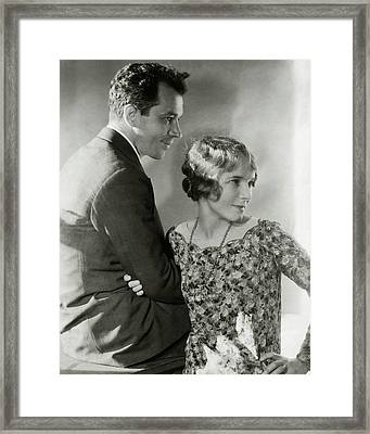 Charles Macarthur And Helen Hayes Framed Print