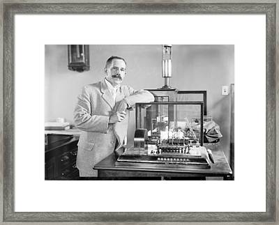 Charles Marvin, American Meteorologist Framed Print by Science Photo Library