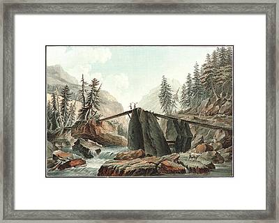 Charles-melchior Descourtis French, 1753-1820. The Devils Framed Print by Litz Collection