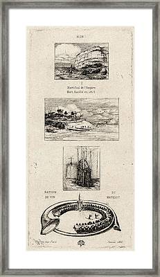 Charles Meryon French, 1821 - 1868. Rebus No Framed Print by Litz Collection