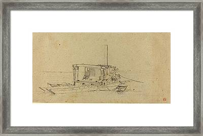Charles Meryon French, 1821 - 1868, River Dredges Framed Print by Quint Lox