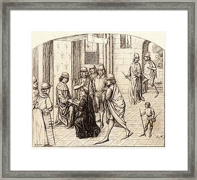 Charles Meryon French, 1821 - 1868. The Printer Valerius Framed Print by Litz Collection