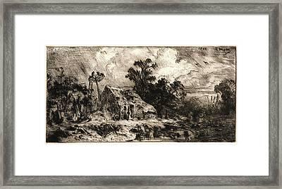 Charles Émile Jacque French, 1813 - 1894. Landscape Framed Print