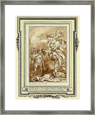 Charles Monnet, Perseus Turning Phinneas To Stone Framed Print by Litz Collection