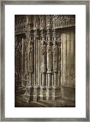 Charles Nègre, Chartres Cathedral Framed Print by Quint Lox