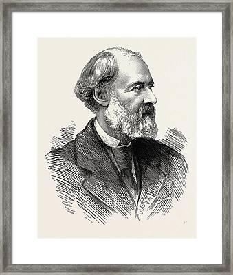 Charles Reade Novelist Journalist Dramatist Born 1814 Died Framed Print by English School