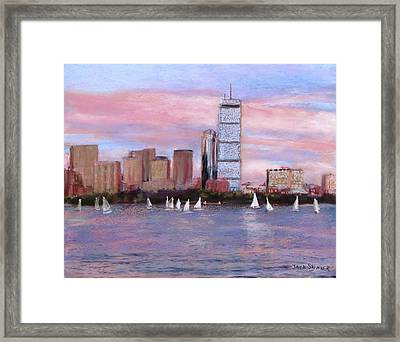 Charles River Boston Framed Print by Jack Skinner