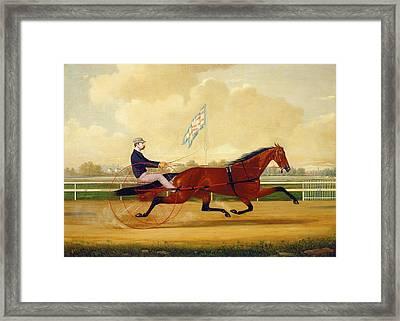 Charles S. Humphreys, Budd Doble Driving Goldsmith Maid Framed Print by Quint Lox