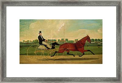 Charles S. Humphreys, The Trotter, American Framed Print by Quint Lox