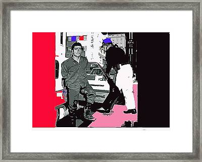 Charles Schmid Arrested  Tucson Arizona C.1965-2013  Framed Print by David Lee Guss