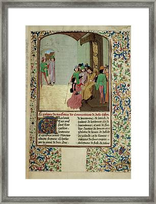 Charles The Bold And Author Framed Print by British Library