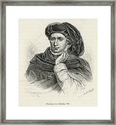 Charles Vi Of France Also Known As 'le Framed Print by Mary Evans Picture Library