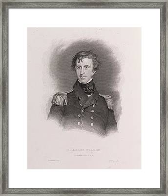 Charles Wilkes Framed Print by British Library