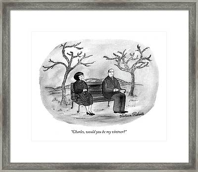 Charles, Would You Be My Vintner? Framed Print by Victoria Roberts