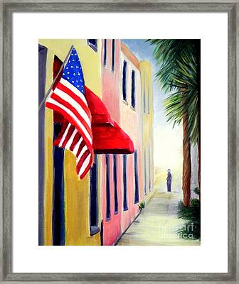Charleston Alley Framed Print