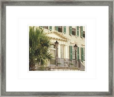 Charleston Architecture 3 Framed Print