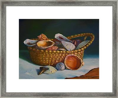 Charleston Basket Framed Print