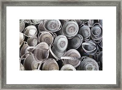 Charleston Baskets Framed Print